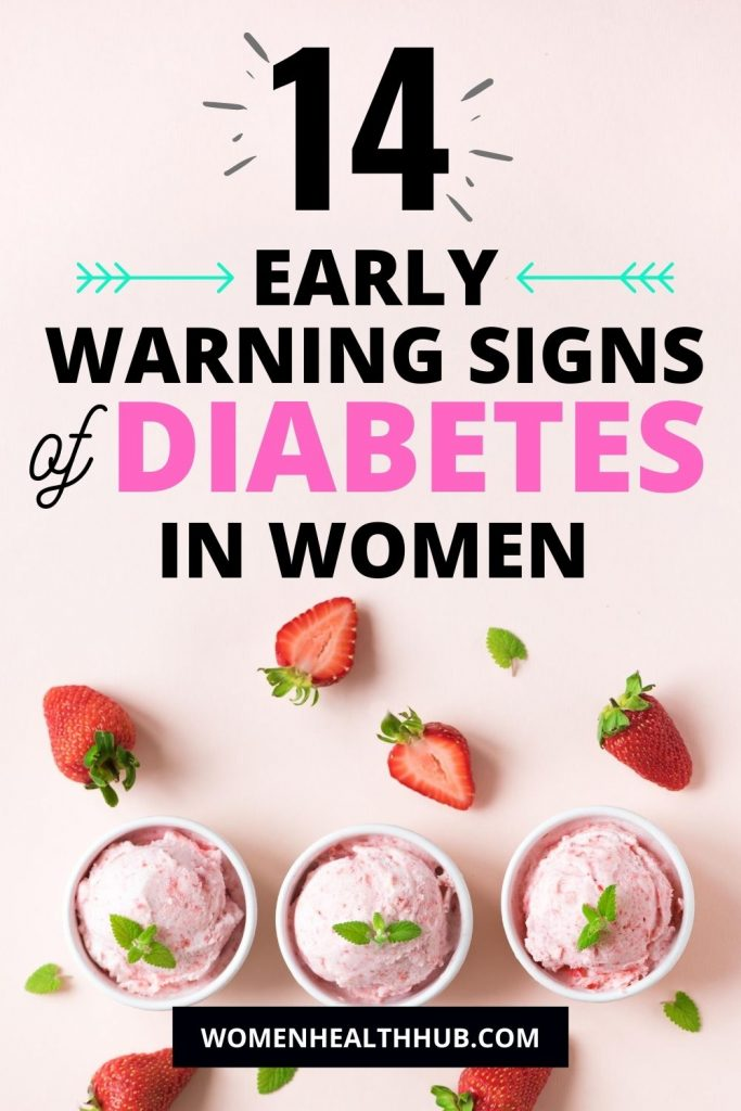 These are the early signs of diabetes in women