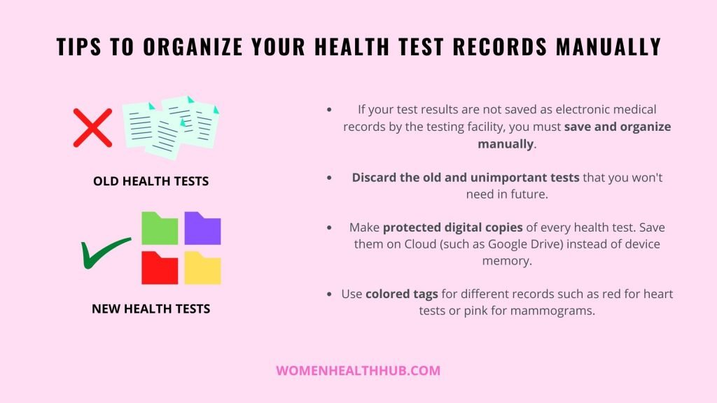 How to organize your health screening test results manually